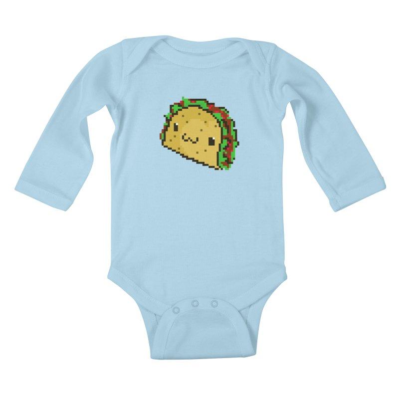 Pixel Taco Kids Baby Longsleeve Bodysuit by exeivier's Artist Shop