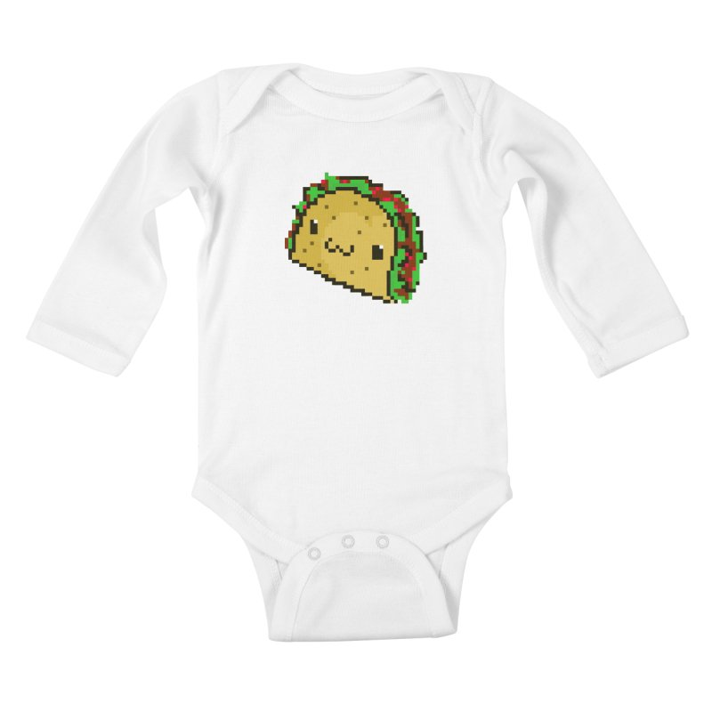 Pixel Taco Kids Baby Longsleeve Bodysuit by exeivier's Artist Shop