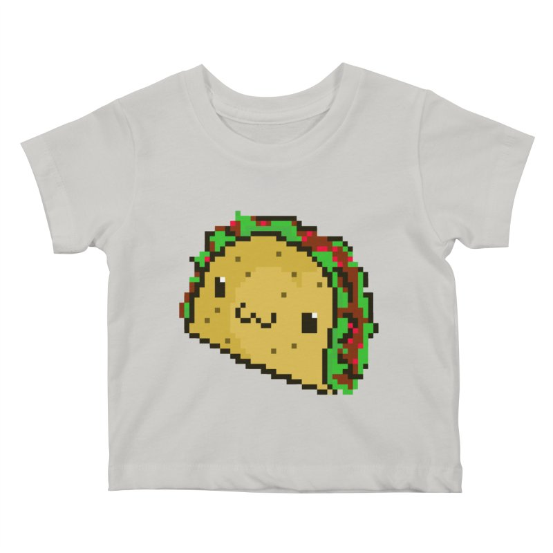 Pixel Taco Kids Baby T-Shirt by exeivier's Artist Shop