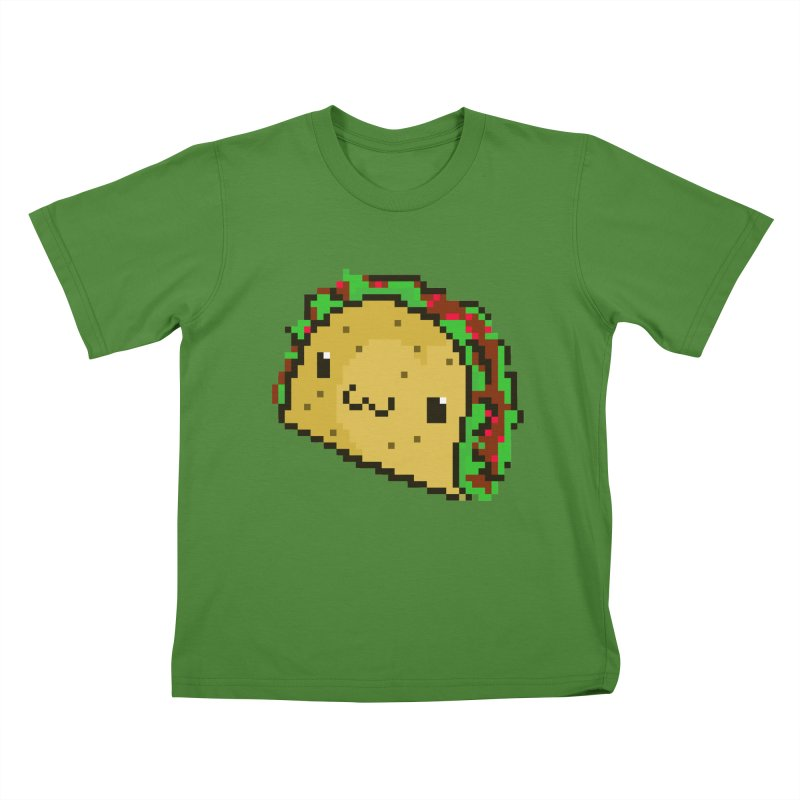 Pixel Taco Kids T-Shirt by exeivier's Artist Shop