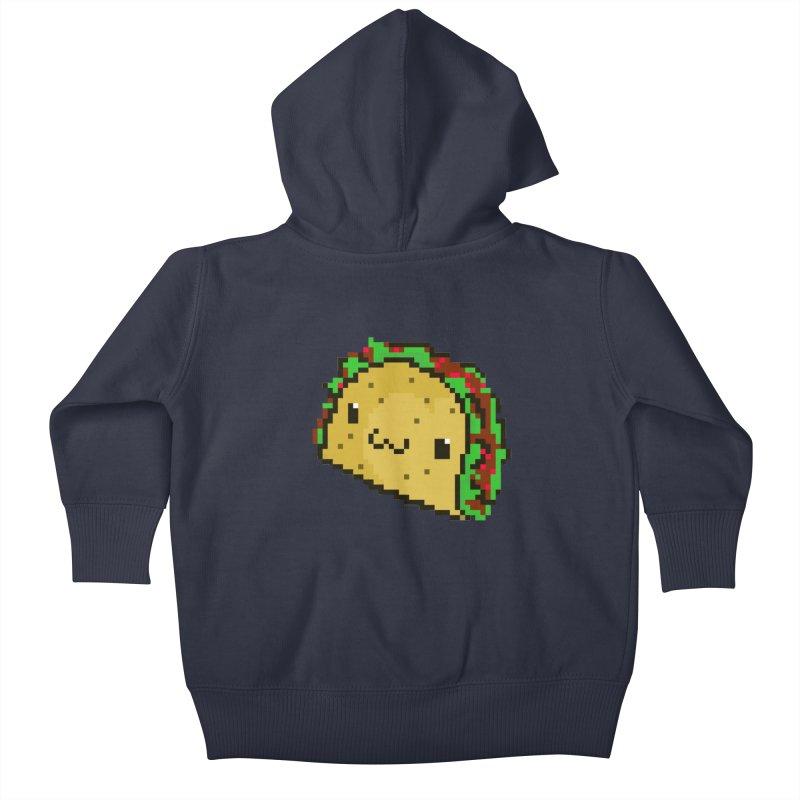 Pixel Taco Kids Baby Zip-Up Hoody by exeivier's Artist Shop