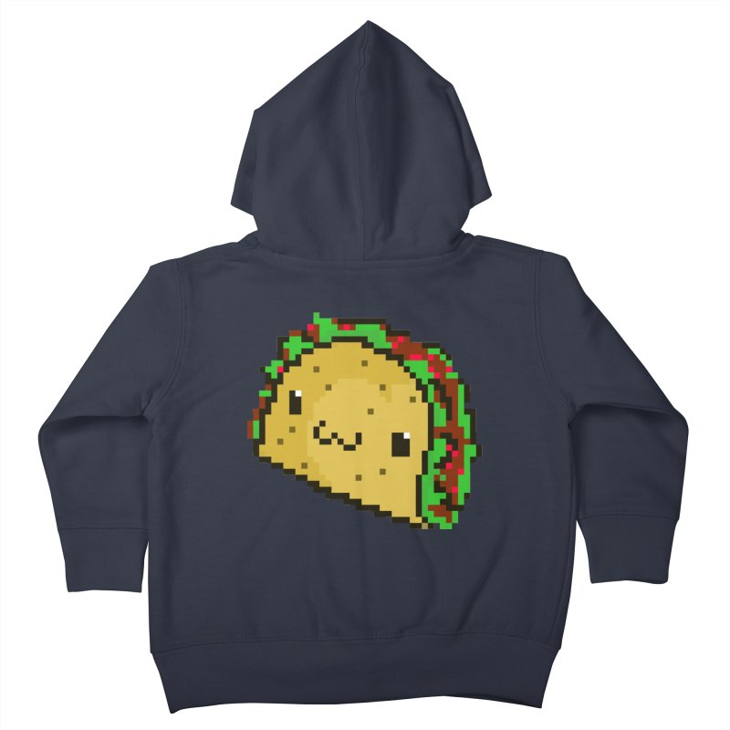 Pixel Taco Kids Toddler Zip-Up Hoody by exeivier's Artist Shop