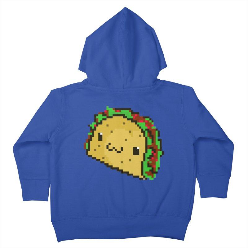 Pixel Taco Kids Toddler Zip-Up Hoody by exeivier's Artist Shop
