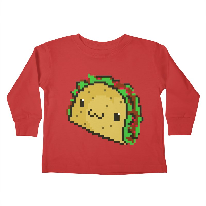 Pixel Taco Kids Toddler Longsleeve T-Shirt by exeivier's Artist Shop