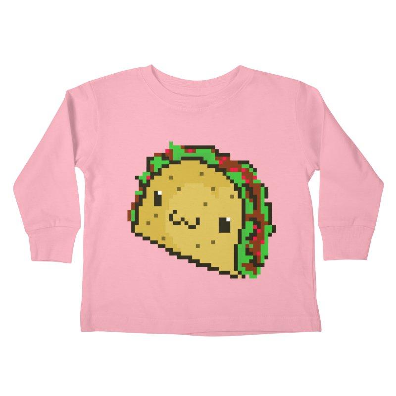 Pixel Taco Kids Toddler Longsleeve T-Shirt by exeivier's Artist Shop