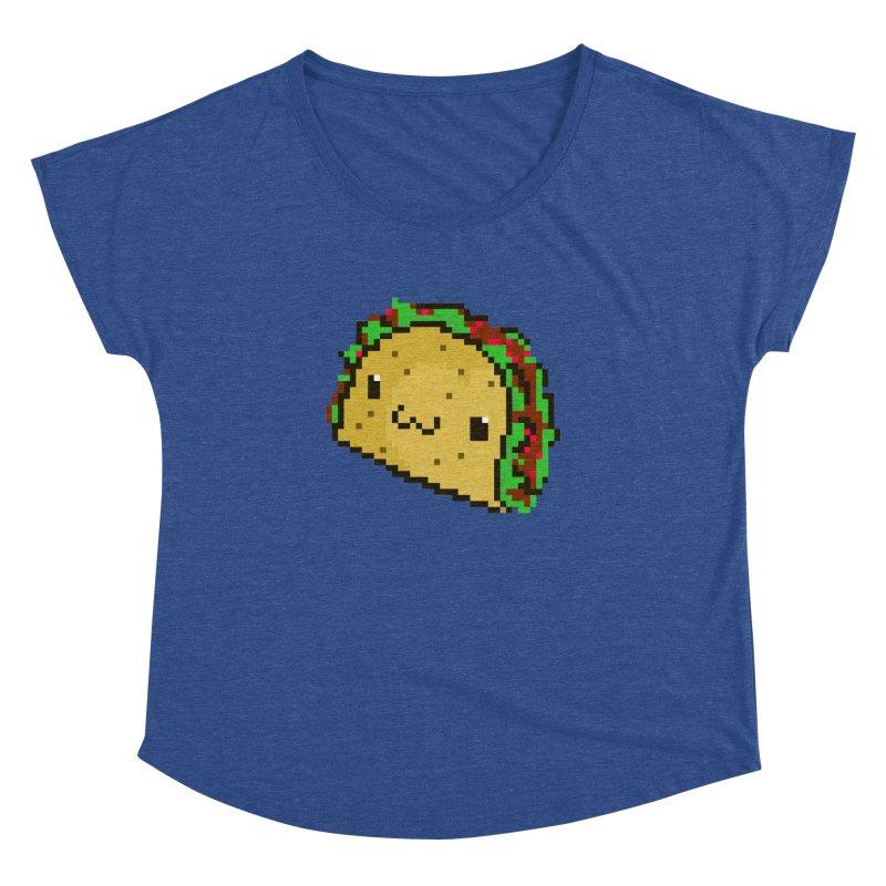 Pixel Taco Women's Dolman Scoop Neck by exeivier's Artist Shop