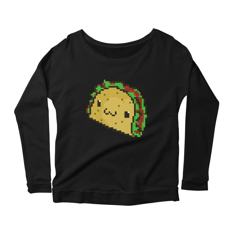 Pixel Taco Women's Scoop Neck Longsleeve T-Shirt by exeivier's Artist Shop
