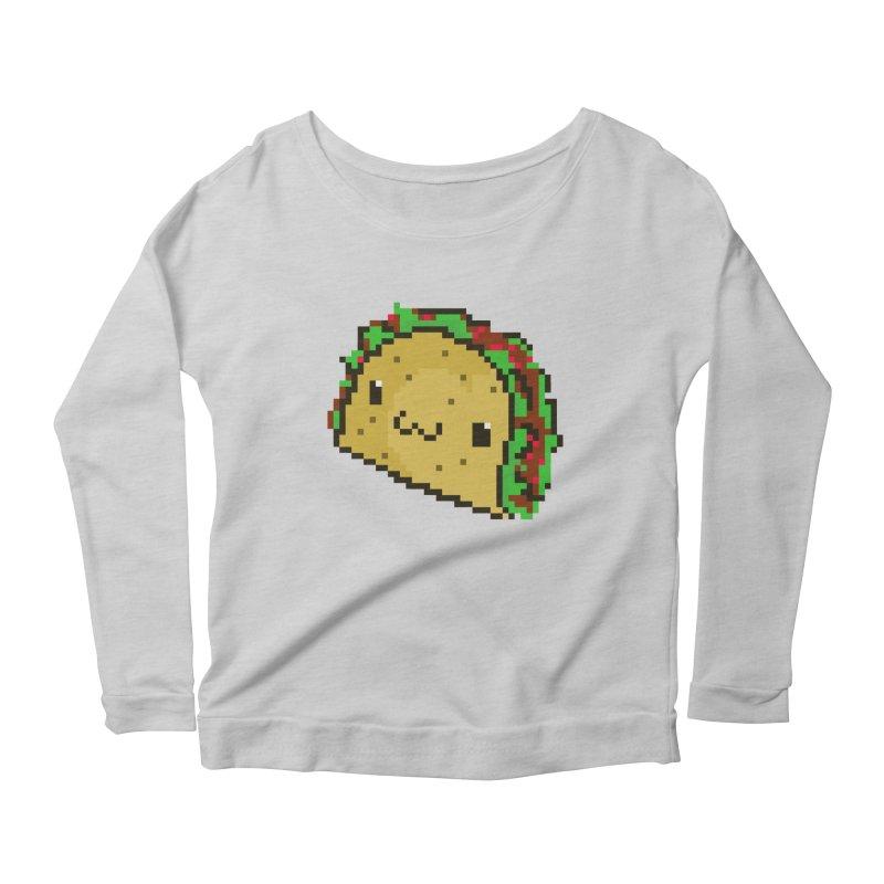 Pixel Taco Women's Longsleeve Scoopneck  by exeivier's Artist Shop