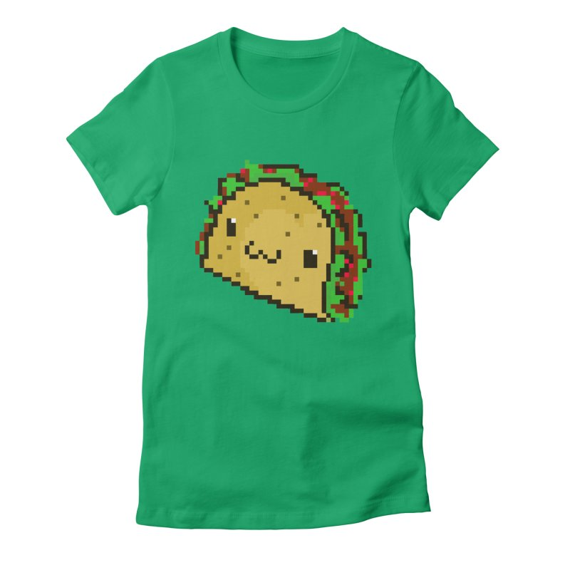 Pixel Taco Women's Fitted T-Shirt by exeivier's Artist Shop