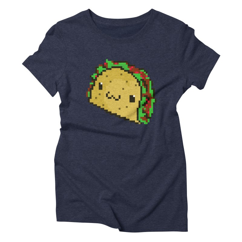 Pixel Taco Women's Triblend T-Shirt by exeivier's Artist Shop