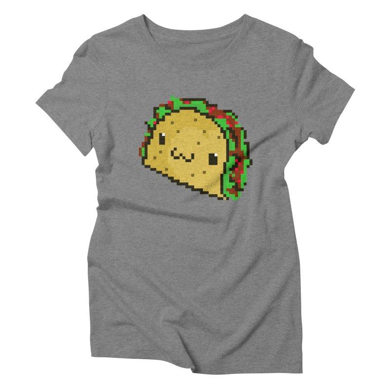 Pixel Taco Women's Triblend T-Shirt by exeivier's Artist Shop