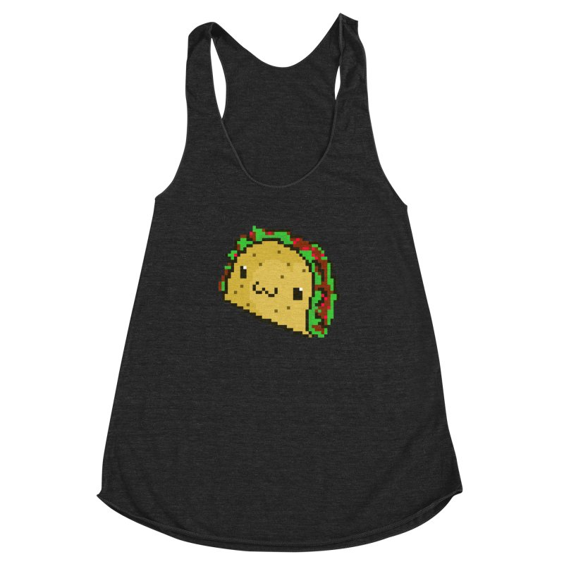 Pixel Taco Women's Racerback Triblend Tank by exeivier's Artist Shop