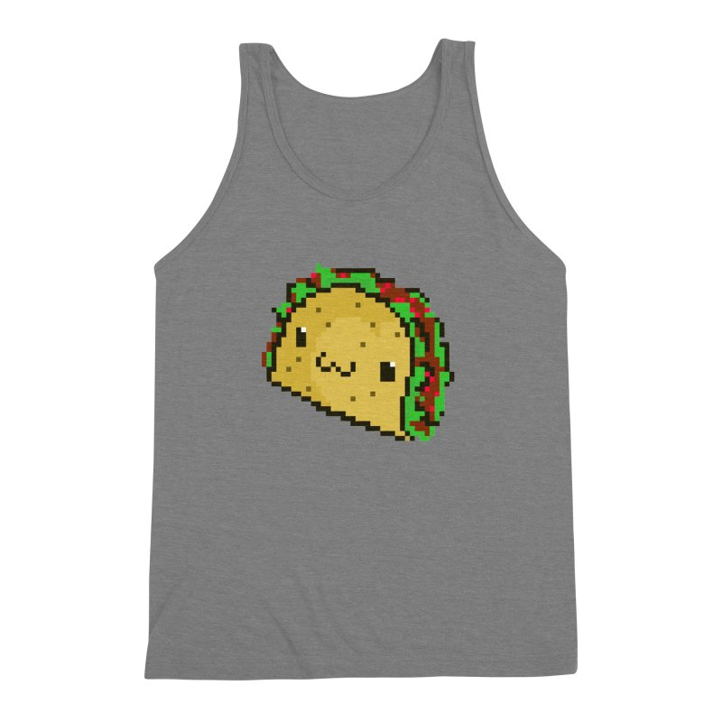 Pixel Taco Men's Triblend Tank by exeivier's Artist Shop