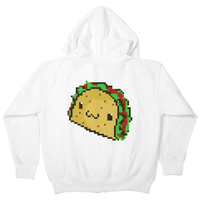 Pixel Taco Kids Zip-Up Hoody by exeivier's Artist Shop