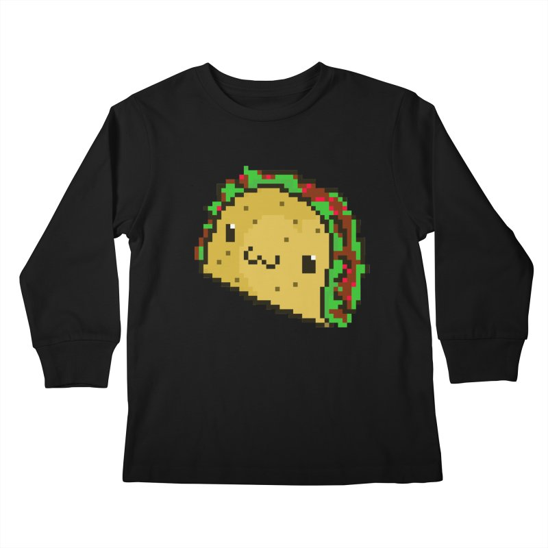 Pixel Taco Kids Longsleeve T-Shirt by exeivier's Artist Shop