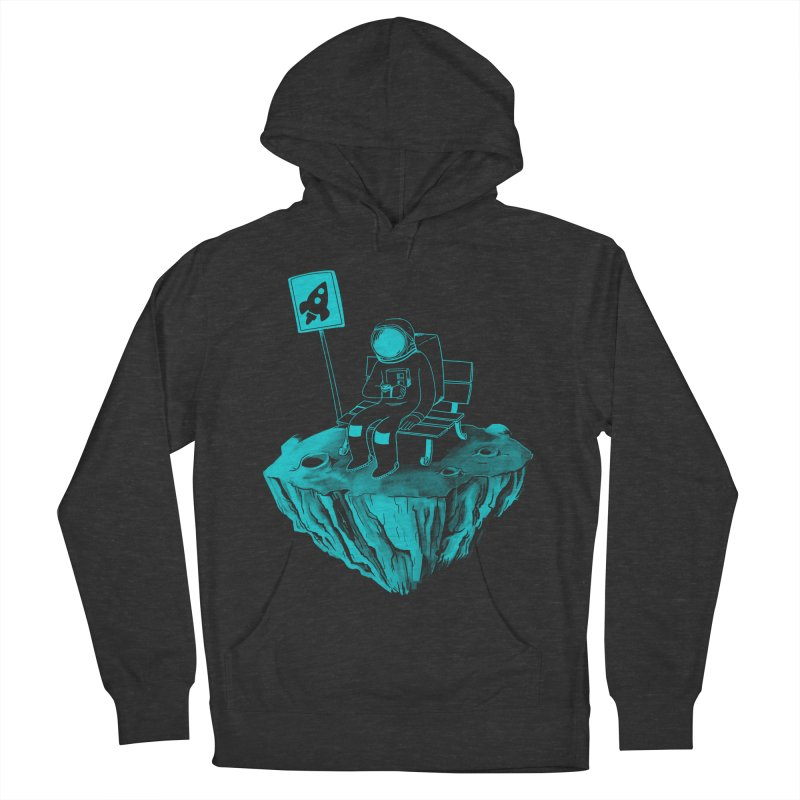 Waiting for my Rocket Bus Men's French Terry Pullover Hoody by exeivier's Artist Shop