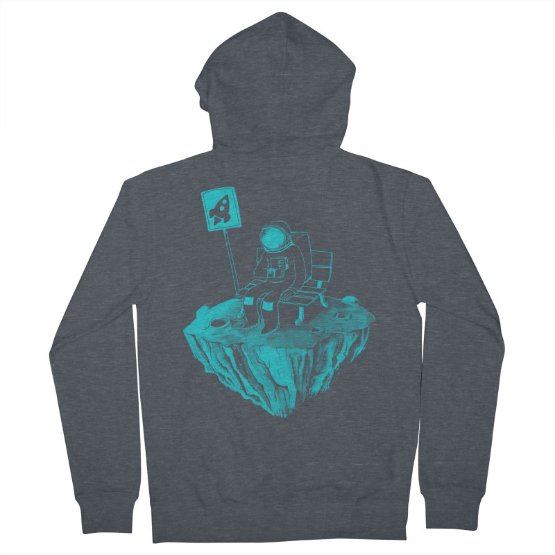 Waiting for my Rocket Bus Men's Zip-Up Hoody by exeivier's Artist Shop