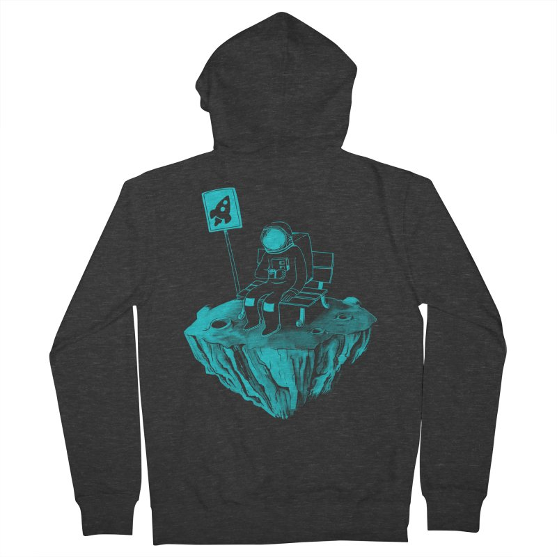 Waiting for my Rocket Bus Men's French Terry Zip-Up Hoody by exeivier's Artist Shop