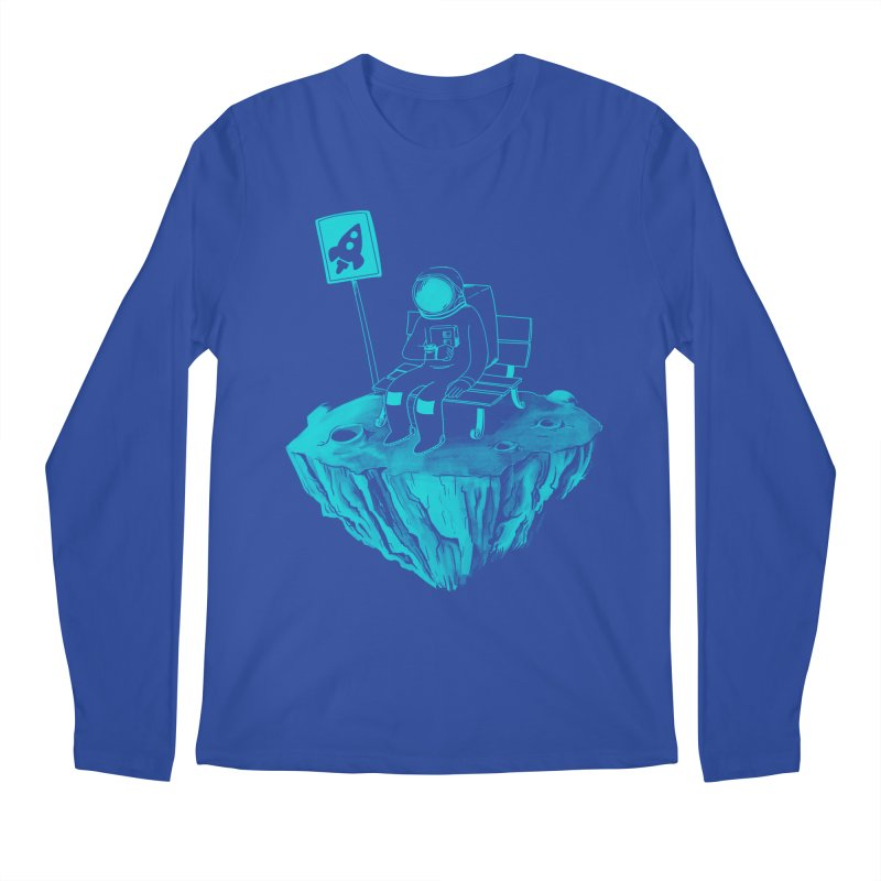 Waiting for my Rocket Bus Men's Longsleeve T-Shirt by exeivier's Artist Shop