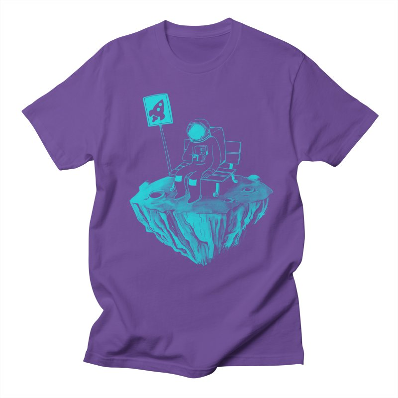 Waiting for my Rocket Bus Men's Regular T-Shirt by exeivier's Artist Shop