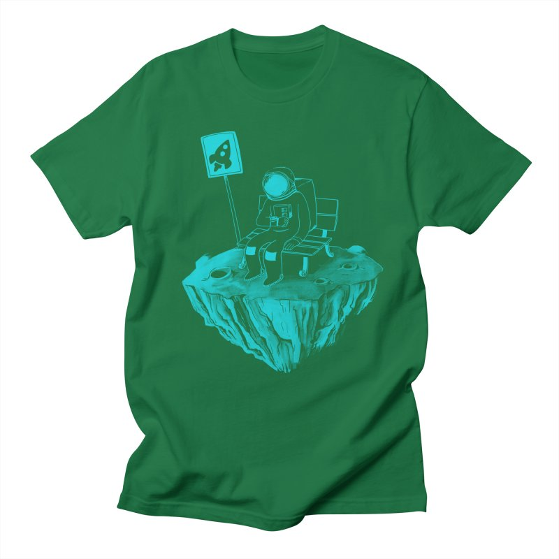 Waiting for my Rocket Bus Men's T-shirt by exeivier's Artist Shop