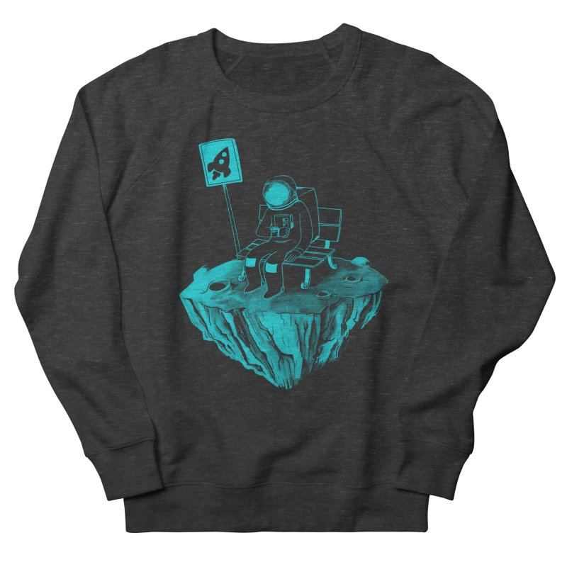 Waiting for my Rocket Bus Women's French Terry Sweatshirt by exeivier's Artist Shop