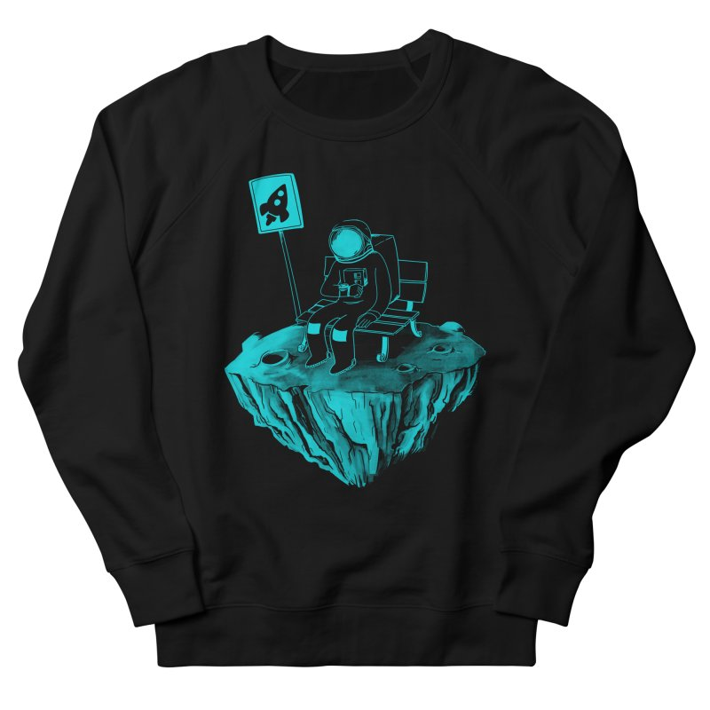 Waiting for my Rocket Bus Men's French Terry Sweatshirt by exeivier's Artist Shop