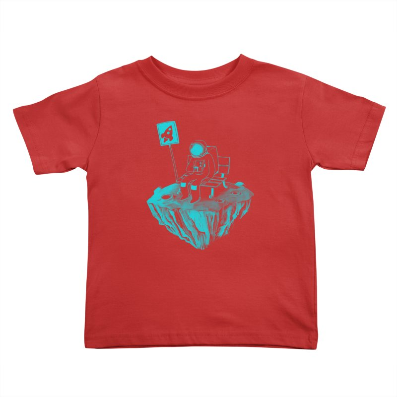 Waiting for my Rocket Bus Kids Toddler T-Shirt by exeivier's Artist Shop