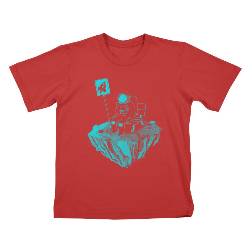 Waiting for my Rocket Bus Kids T-Shirt by exeivier's Artist Shop