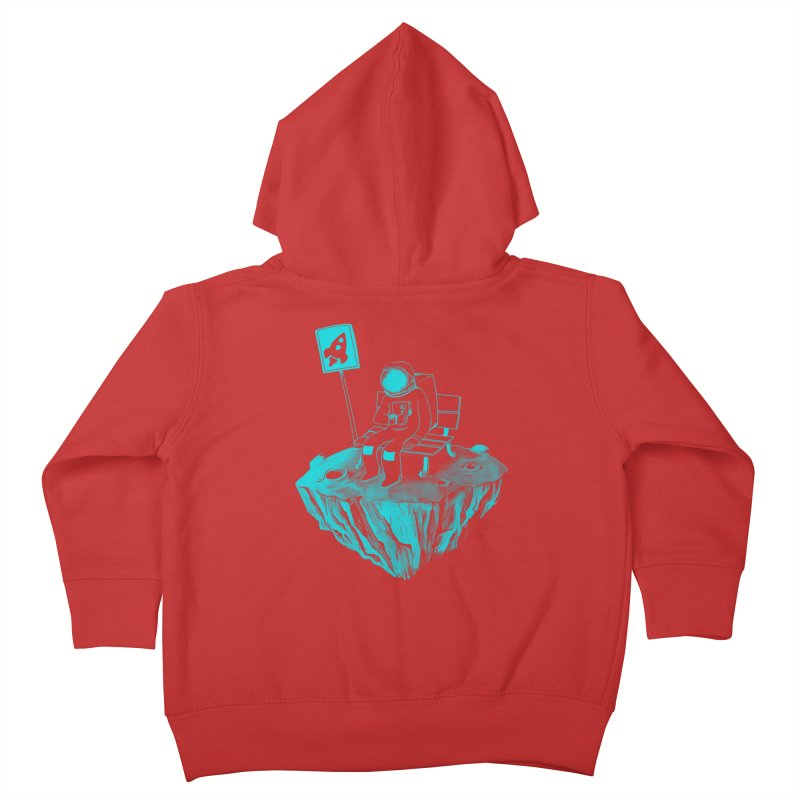 Waiting for my Rocket Bus Kids Toddler Zip-Up Hoody by exeivier's Artist Shop