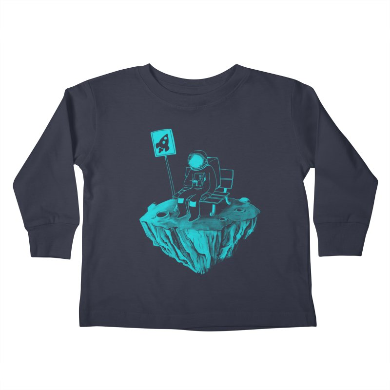 Waiting for my Rocket Bus Kids Toddler Longsleeve T-Shirt by exeivier's Artist Shop