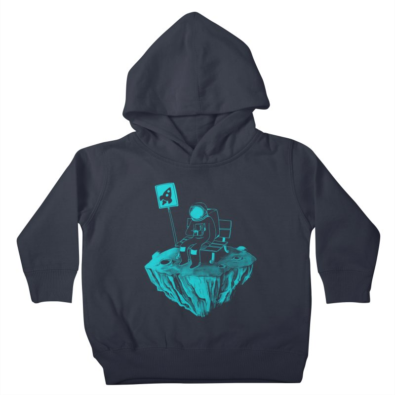 Waiting for my Rocket Bus Kids Toddler Pullover Hoody by exeivier's Artist Shop