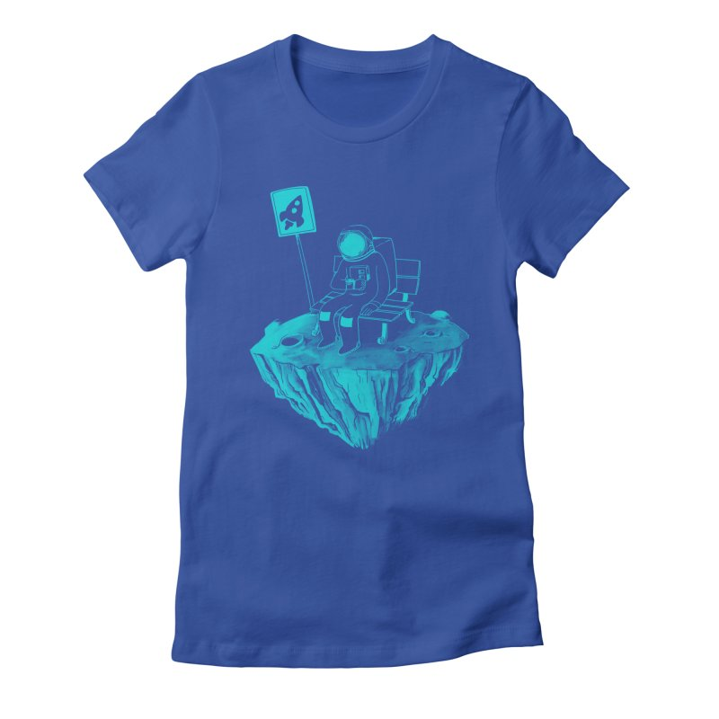 Waiting for my Rocket Bus Women's Fitted T-Shirt by exeivier's Artist Shop