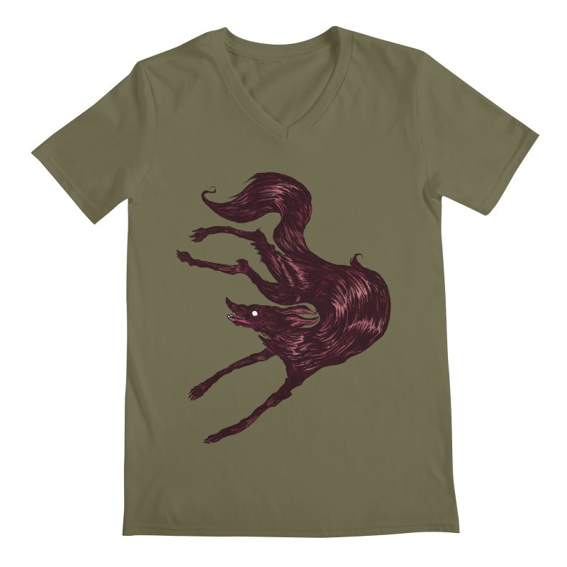 Silly Hound  Men's V-Neck by exeivier's Artist Shop