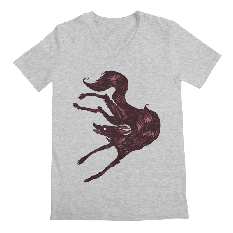 Silly Hound  Men's Regular V-Neck by exeivier's Artist Shop