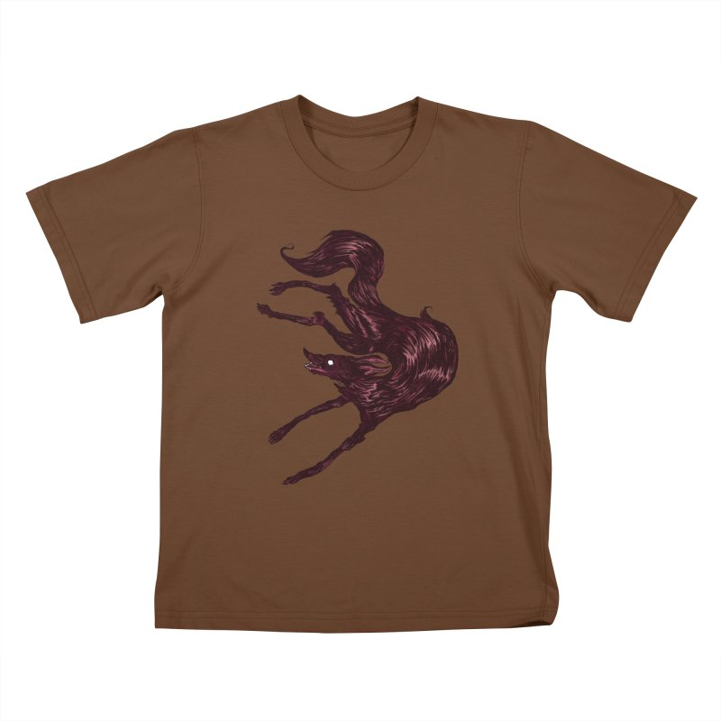 Silly Hound  Kids T-Shirt by exeivier's Artist Shop