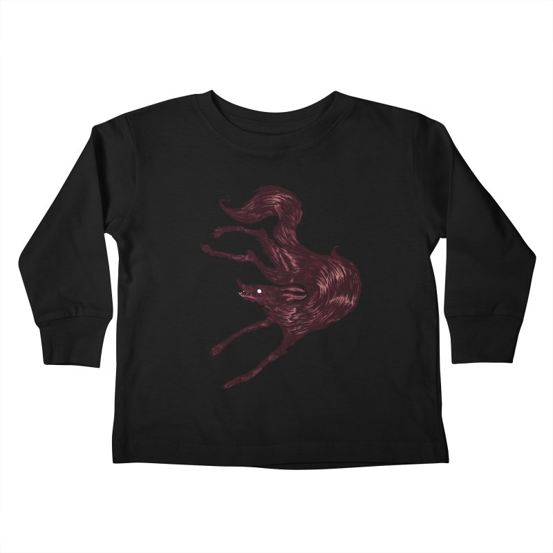 Silly Hound  Kids Toddler Longsleeve T-Shirt by exeivier's Artist Shop