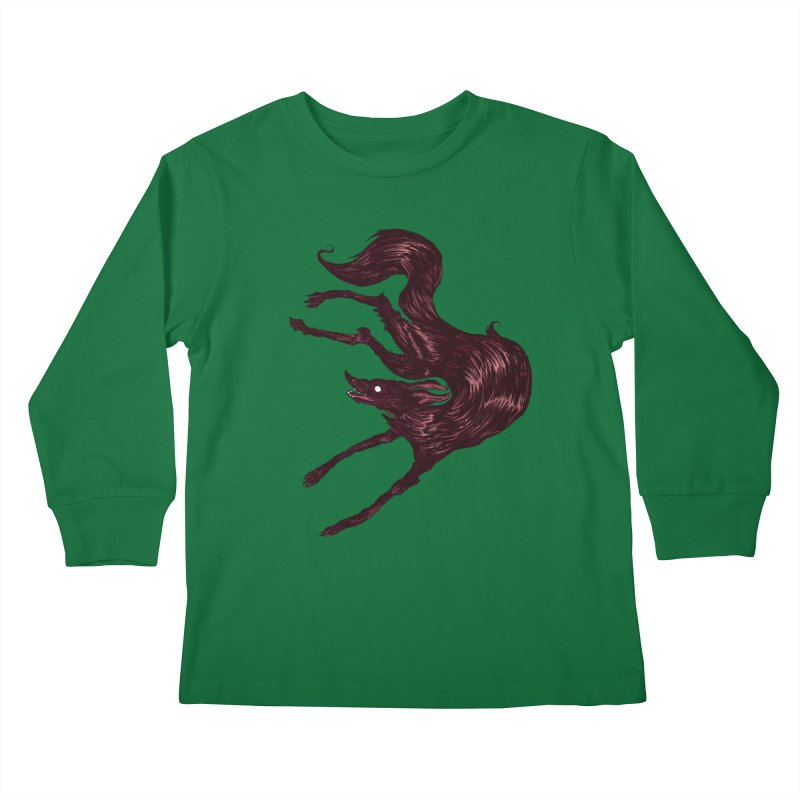 Silly Hound  Kids Longsleeve T-Shirt by exeivier's Artist Shop