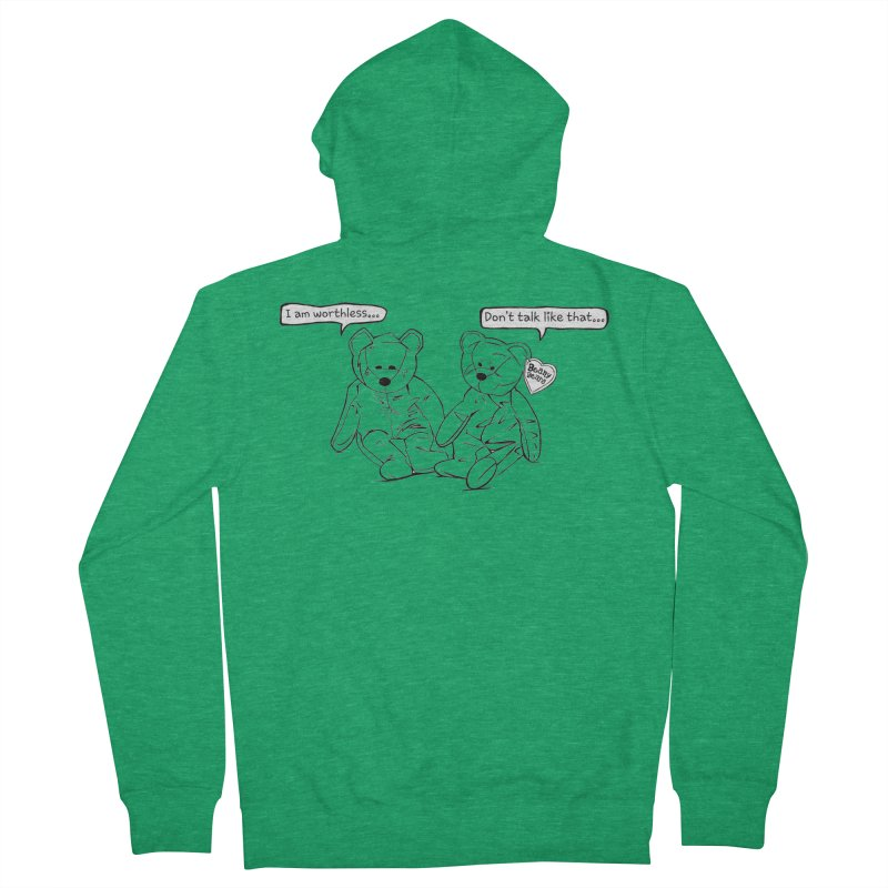 Worthless Beans Men's Zip-Up Hoody by exiledesigns's Artist Shop
