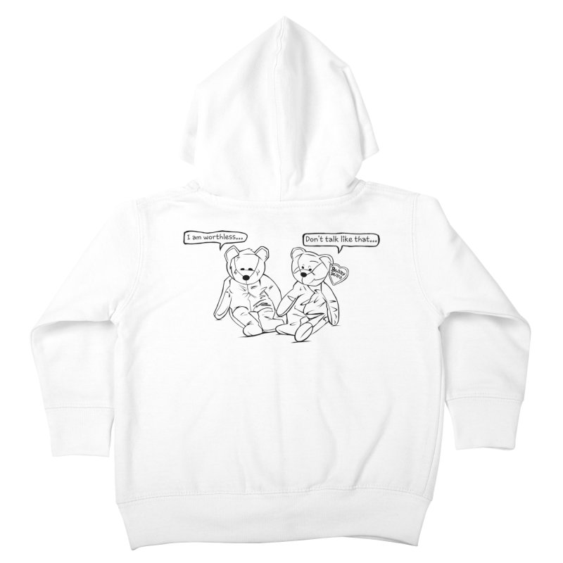 Worthless Beans Kids Toddler Zip-Up Hoody by exiledesigns's Artist Shop