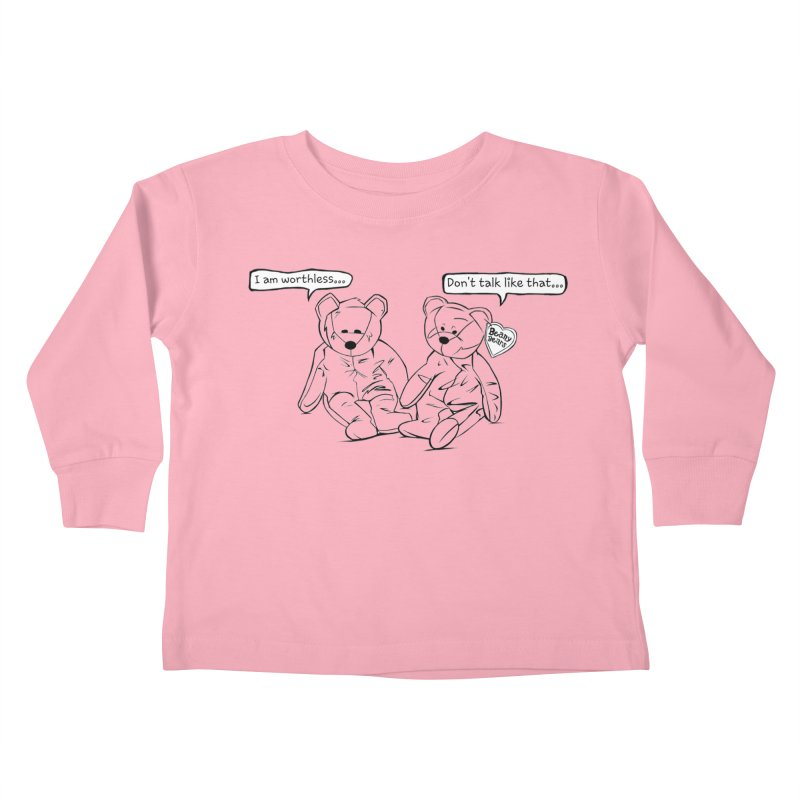 Worthless Beans Kids Toddler Longsleeve T-Shirt by exiledesigns's Artist Shop