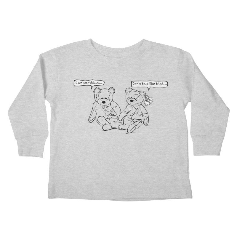 Worthless Beans Kids Toddler Longsleeve T-Shirt by exiledesigns's Artist Shop