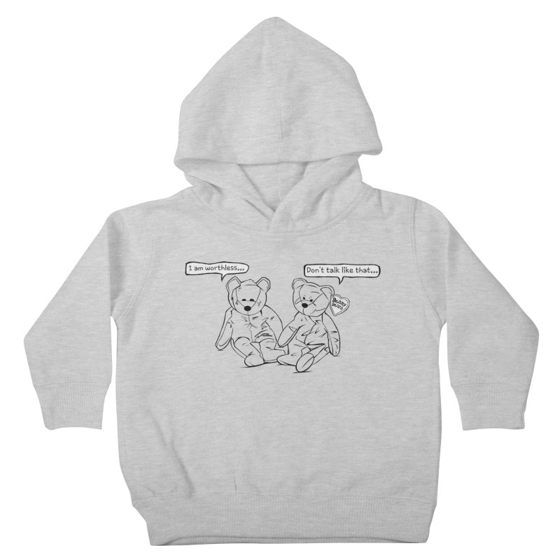 Worthless Beans Kids Toddler Pullover Hoody by exiledesigns's Artist Shop