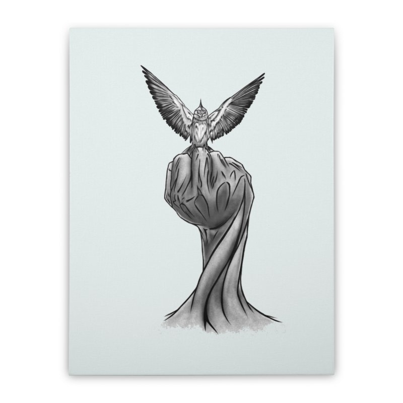 The Bird Home Stretched Canvas by exiledesigns's Artist Shop