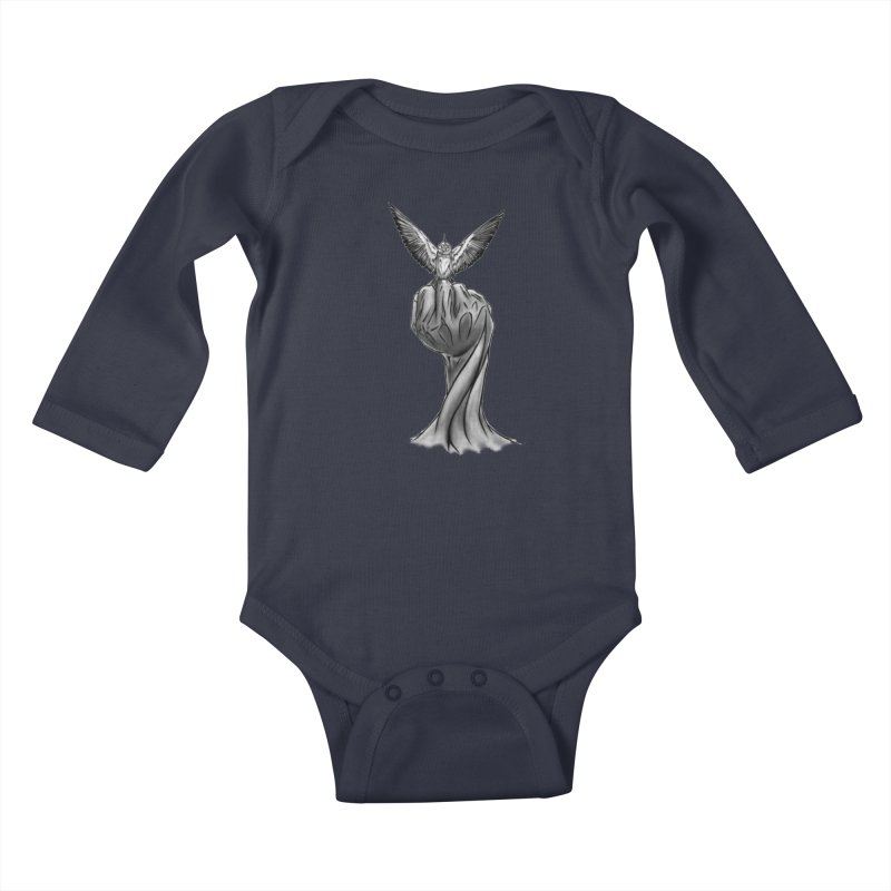 The Bird Kids Baby Longsleeve Bodysuit by exiledesigns's Artist Shop