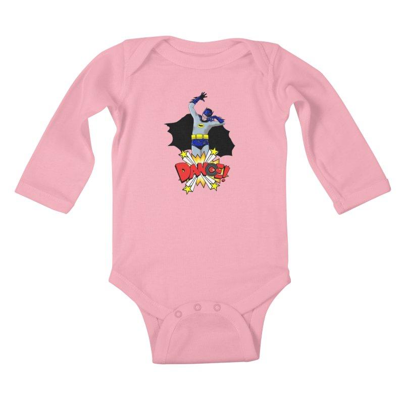 Bat-Dance! Kids Baby Longsleeve Bodysuit by exiledesigns's Artist Shop