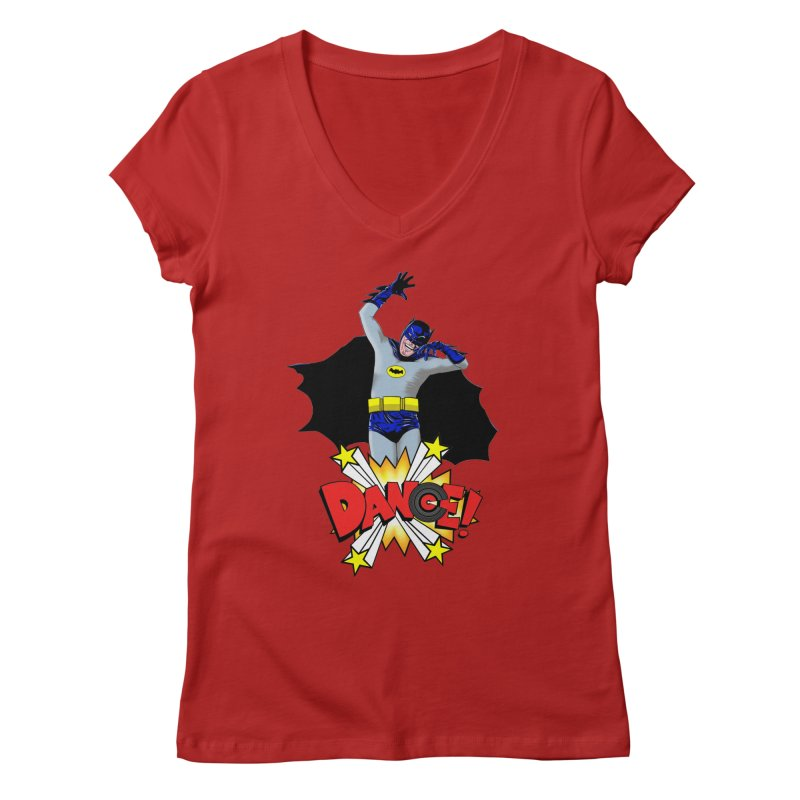 Bat-Dance! Women's V-Neck by exiledesigns's Artist Shop