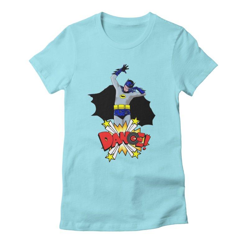 Bat-Dance! Women's Fitted T-Shirt by exiledesigns's Artist Shop