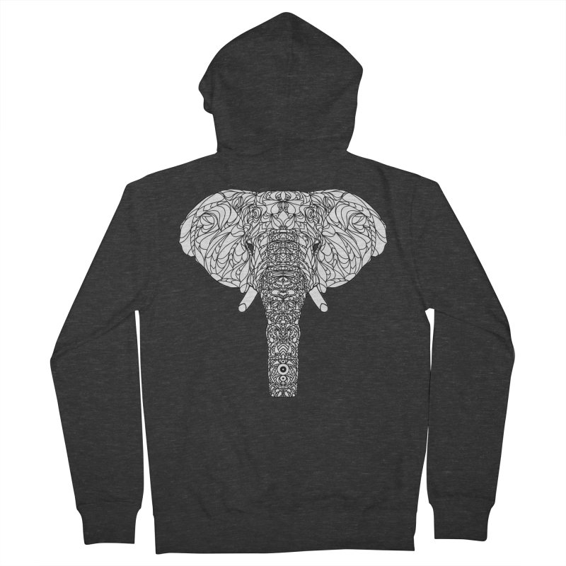 The Majestic Elephant Men's Zip-Up Hoody by exiledesigns's Artist Shop
