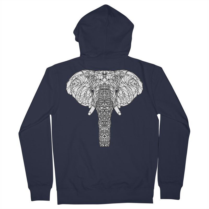 The Majestic Elephant Men's French Terry Zip-Up Hoody by exiledesigns's Artist Shop